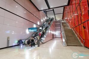 MacPherson MRT Station (DTL) - Eastbound platform escalators