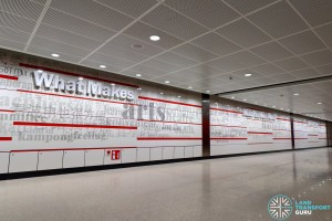 MacPherson MRT Station - Art In Transit 'Trail of Thoughts'