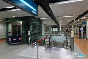 MacPherson MRT Station - Paid Link to Downtown Line Platform D