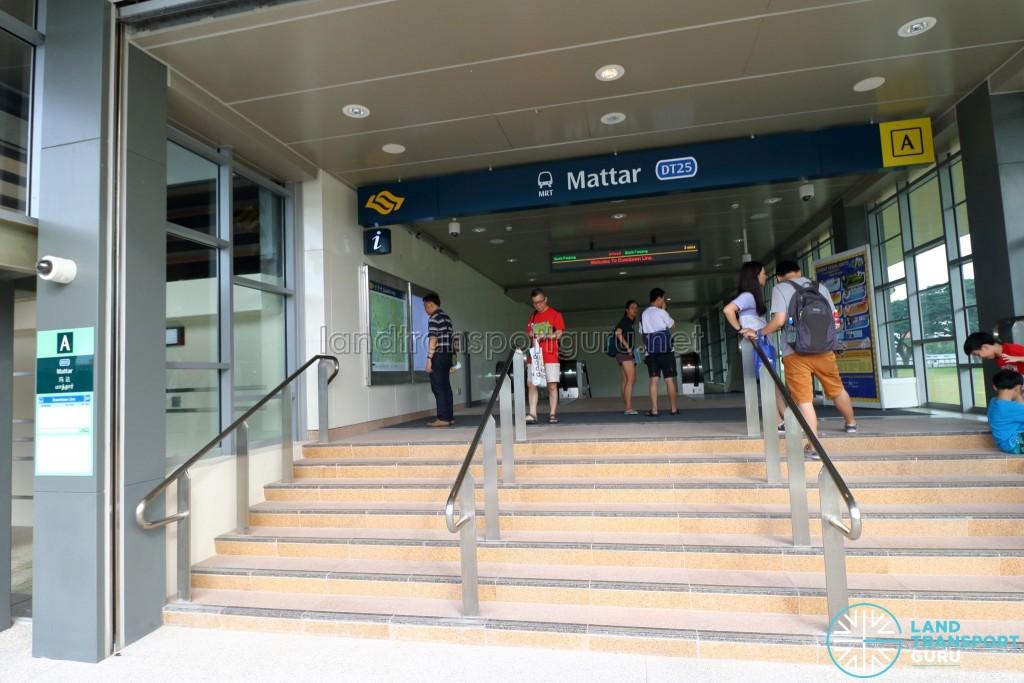 Mattar MRT Station - Exit A