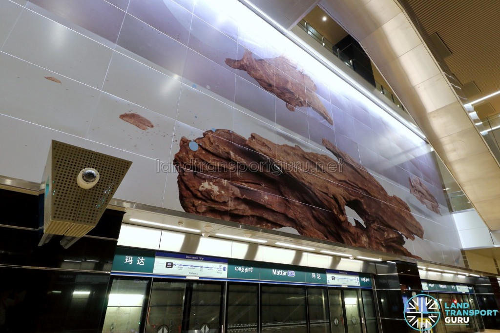 Mattar MRT Station - Art In Transit 'Agar Panel'