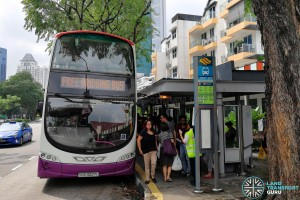 SBS Transit also deployed buses on both days