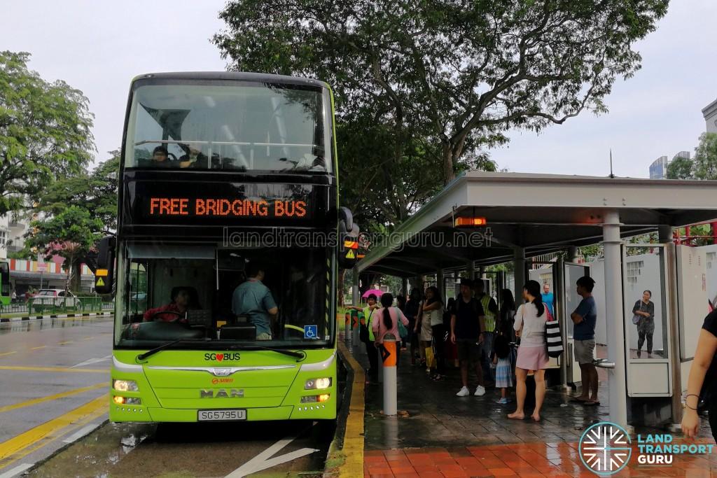SMRT MAN A95 deployed on the Free Bridging Bus service