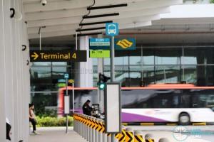 Terminal 4 Bus Stop Poles