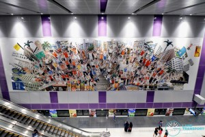 Tampines East MRT Station - Art In Transit (Welcome to Jingapore!)