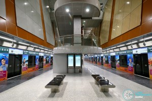 Tampines West MRT Station - Platform level (B3)