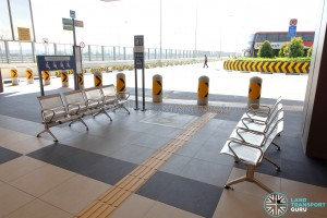 Tuas Bus Terminal - Priority seats at boarding berth