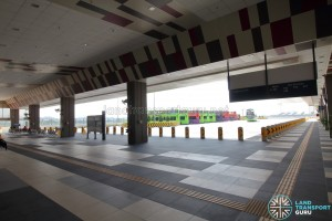Tuas Bus Terminal - Concourse interior near Alighting berths