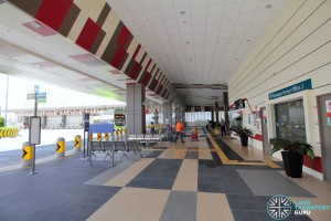 Tuas Bus Terminal - Concourse interior near boarding berth