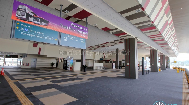 Tuas Bus Terminal - Main concourse (from Alighting berth)