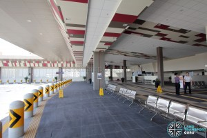 Tuas Bus Terminal - Bus waiting area