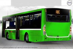 Volvo Hybrid Bus Illustration (Rear, MCV Body option)