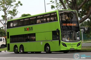 Tower Transit Alexander Dennis Enviro500 (SMB3509R) - Tuas West Extension Bridging Bus