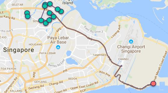Route G26 at a glance. Map Image: Beeline.sg