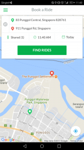 GrabShuttle Plus - User Interface