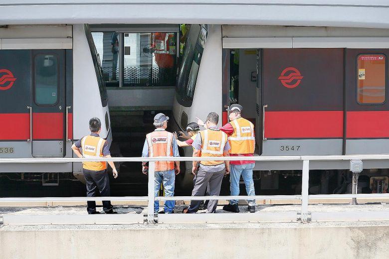 Joo Koon Train Collision (Straits Times photo)