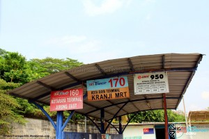 Kotaraya Bus Terminal - Bus route signs
