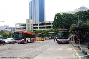 Kotaraya Bus Terminal - As seen from the SMRT dispatcher's shelter