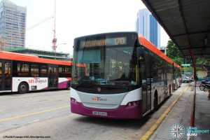 Kotaraya Bus Terminal - Layover of SBS Transit buses