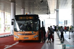 Woodlands Transport Yutong ZK6126HGA (PC2949U) - T4 - T2 Shuttle