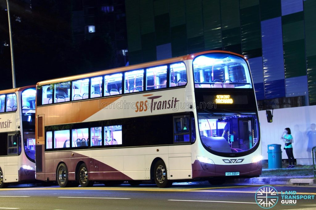SBS Transit Volvo B9TL Wright (SBS3165P) - SCSM 2017 (Orchard Route)
