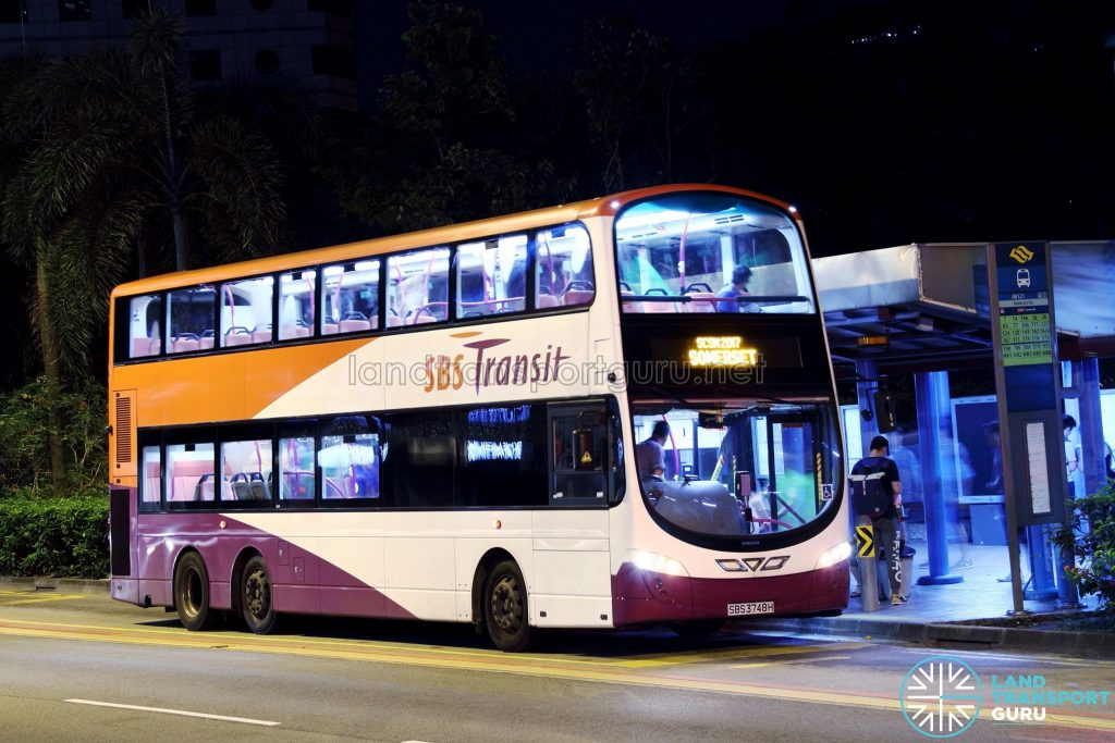 SBS Transit Volvo B9TL Wright (SBS3748H) - SCSM 2017 (Somerset Route)