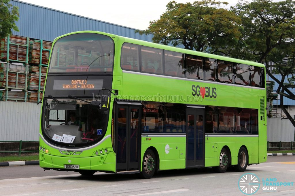 Tower Transit Volvo B9TL Wright (SG5032M) - Shuttle 3: Tuas Link - Joo Koon