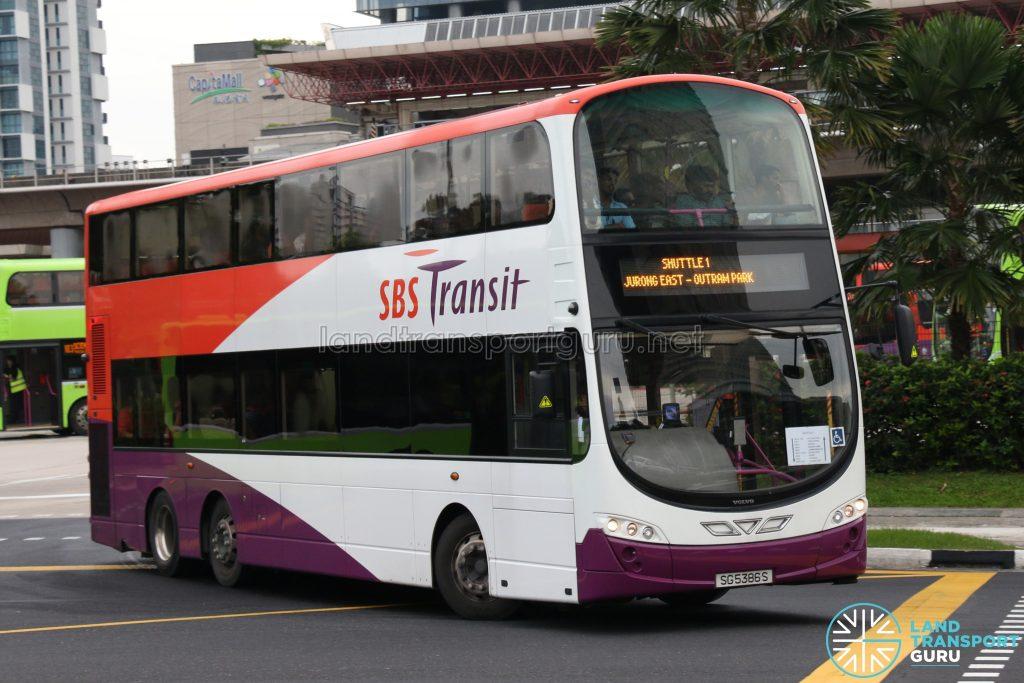 SBS Transit Volvo B9TL (SG5386S) - Shuttle 1