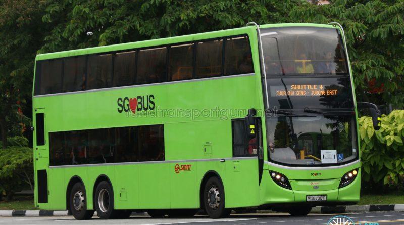 SMRT Alexander Dennis Enviro500 (SG5700T) - Shuttle 4: Choa Chu Kang - Jurong East