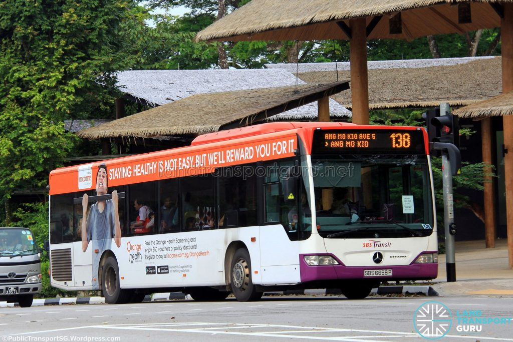 SBS Transit Mercedes Benz O530 Citaro (SBS6658P) - Service 138