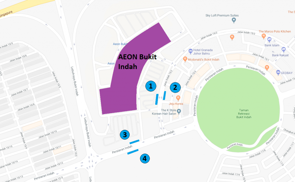 AEON Bukit Indah Transport Map