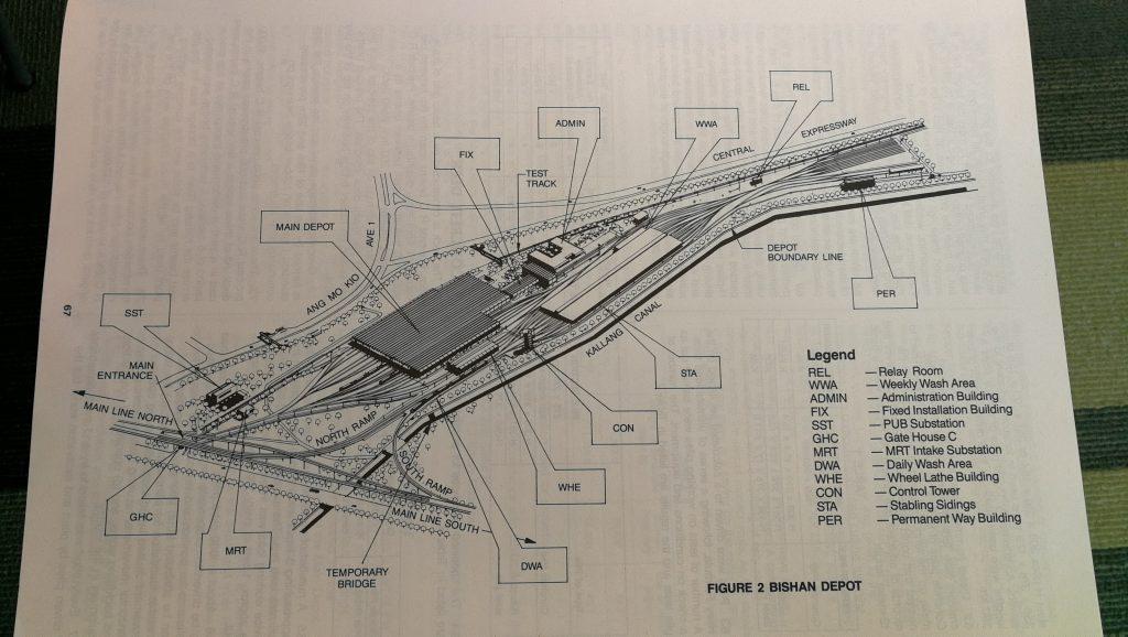 Layout of Bishan Depot
