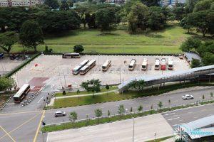 Bukit Panjang Temporary Bus Park in December 2017