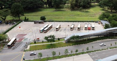 Bukit Panjang Temporary Bus Park in December 2017
