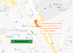 IKEA Tebrau Transport Map (JB Sentral)