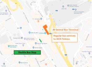 IKEA Tebrau Transport Map (JB Sentral)