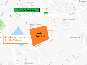 IKEA Tebrau Transport Map (Larkin)
