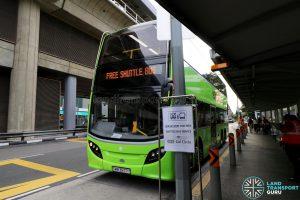 Tower Transit bus operating the Joo Koon—Gul Circle Free Shuttle Bus Service at Joo Koon