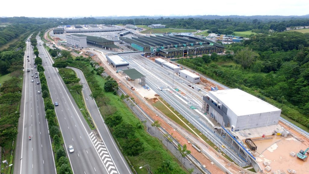 Overhead view of Mandai Depot (Photo: Thomson Line Construction blog)