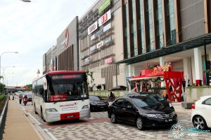 Paradigm Mall: Bus Stop 2 for buses towards JB Sentral and Larkin