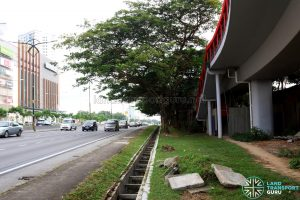 Paradigm Mall: Near Bus Stop 1, overhead bridge staircase entrance on the right