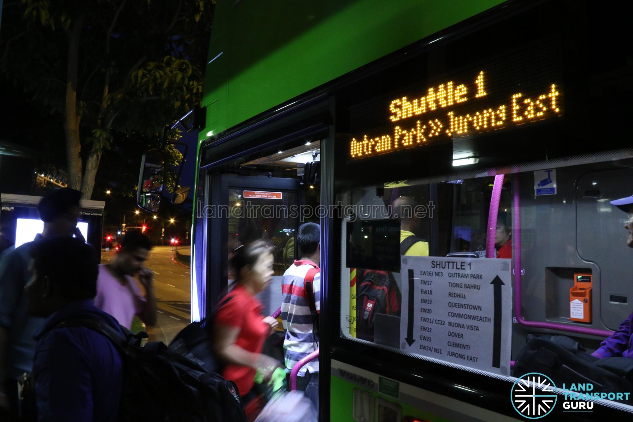 Shuttle 1: Outram Park - Jurong East