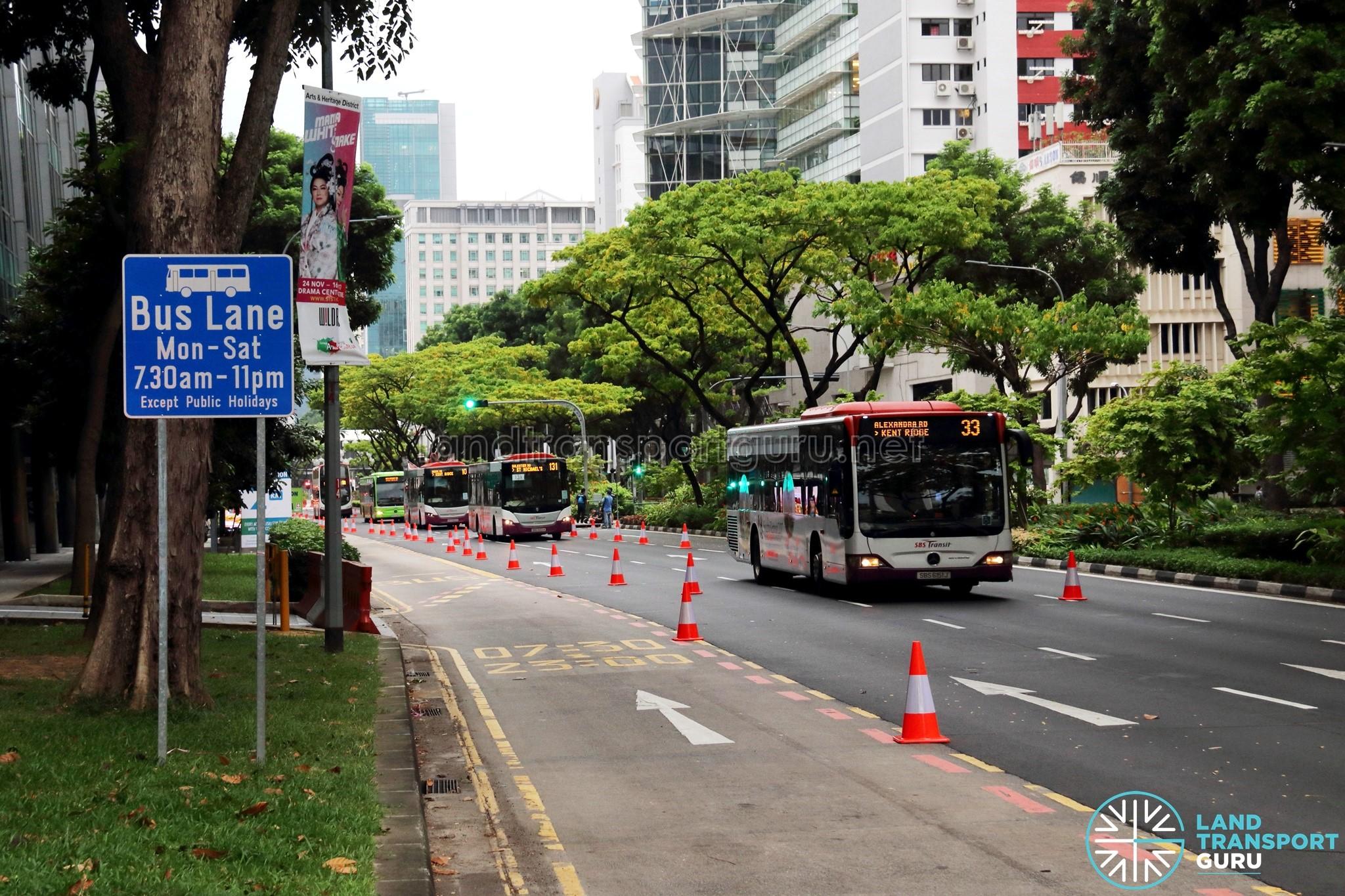 SCSM 2017: Contraflow traffic along Victoria Street