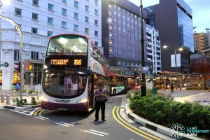 SCSM 2017: Buses stuck along Bencoolen Street (piling back to Middle Road)