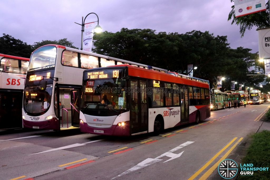 SCSM 2017: Buses stuck along Bras Basah Road (outside Singapore Art Museum)