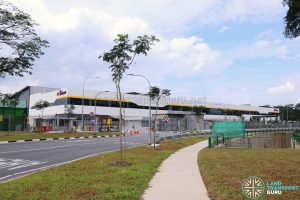 Seletar Bus Depot: View from Lentor Avenue