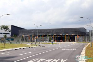 Seletar Bus Depot: Vehicular Entrance, with Bus refuelling and Washing facilities behind