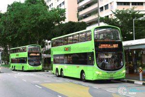 Service 807 bunching at Yishun Ring Road