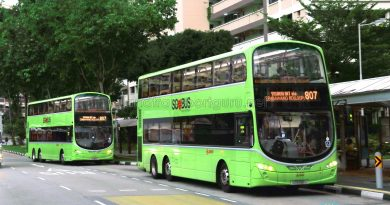 Service 807 bunching at Yishun Ring Road