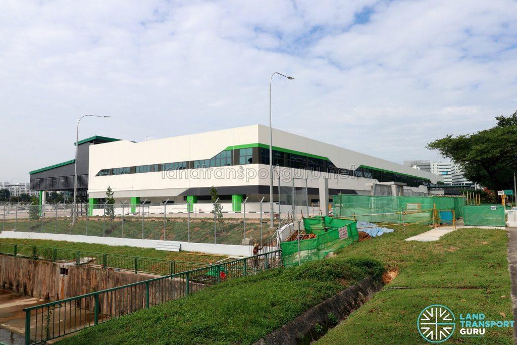 Ulu Pandan Bus Depot: View from Boon Lay Way